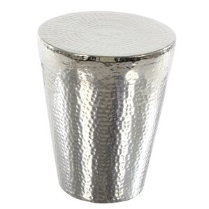 Quenton Aluminum Accent Stool by Bloomsbury Market