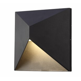 Brayden Studio Hambleton 1-Light LED Outdoor Flush Mount