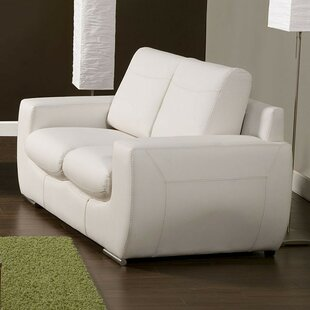 Zariah Leather Loveseat