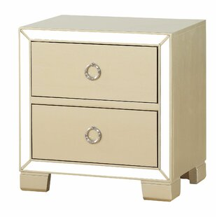 Isai 2 Drawer Nightstand