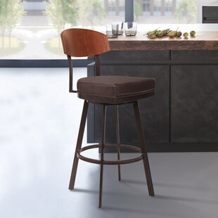 Gokey 26 Swivel Bar Stool Ebern Designs