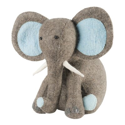 An elephant never forgets; in this darling elephant\'s case, it never forgets a very important job-- to prop open doors! And they\'ll have fun while he\'s at it, with little trunk raised in a playful gesture. Also a very capable bookend. Precious in the nursery, playroom, and as a baby shower or baby birthday gift.Arcadia Home designs are handmade. Each design is as unique as the artisan who creates it.Arcadia Home felt designs are hand-felted, hand appliqued, and lovingly created from 100% sustainable wool by artisans working in India. The facility where these pieces are produced is an award-winning model of sustainability, which runs on solar electricity, collects rainwater, and recycles water on-site. By collaborating with this artisan group, Arcadia Home is helping to preserve the tradition of felt making in the area, promote eco-friendly business, and provide fair and safe employment for hundreds of artisan felt-makers, sheepherders, and seamstresses.Our artisans are experts in their craft - creating the heirloom of tomorrow. Arcadia Home Color: Blue