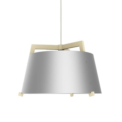 Ignis 3-light Drum Chandelier Cerno Finish: Maple/brushed Aluminum