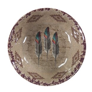 Feather Melamine Dining Bowl (Set of 4)