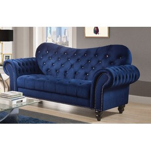 Everly Quinn Rogers Chesterfield Loveseat