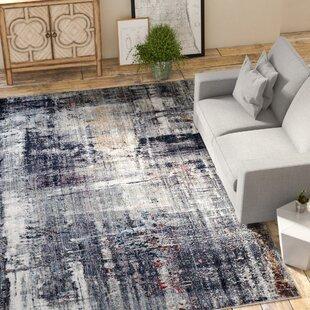 Read Reviews Foresta Black/White Area Rug ByTrent Austin Design