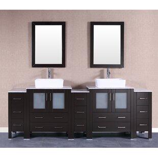 Camile 96 Double Bathroom Vanity Set with Mirror by Bosconi