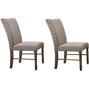 Gracie Oaks Twitchell Upholstered Dining Chair (Set of 2)