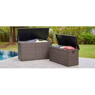 Moda Furnishings 296 Gallon Wicker Deck Box