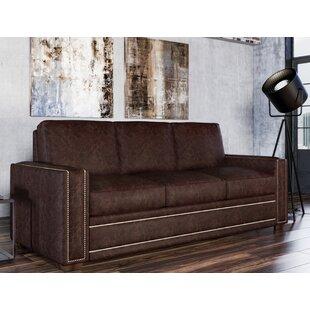 Burnt Orange Leather Sofa | Wayfair