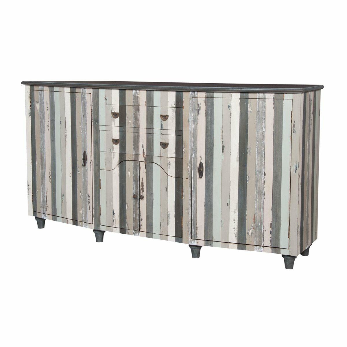 Rosecliff Heights Warroad 80 Wide 2 Drawer Mahogany Wood Sideboard Wayfair