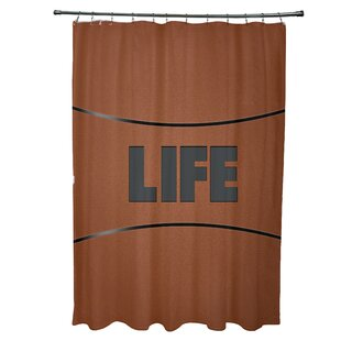 Zoomie Kids Bauer Life Word Shower Curtain