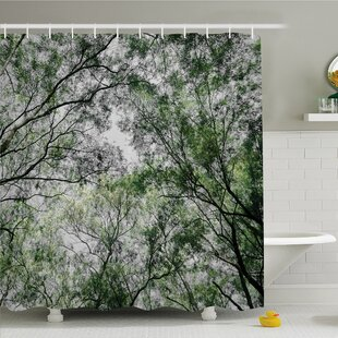 Forest Home Tree Branch in Spring Season Fairy Jungle Growth Nature Wood Shower Curtain Set