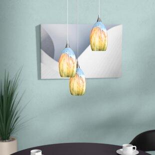 Laskie 3-Light Cluster Pendant by Ebern Designs