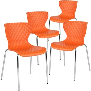 Lowell Contemporary Armless Stacking Chair (Set of 4) by Flash Furniture