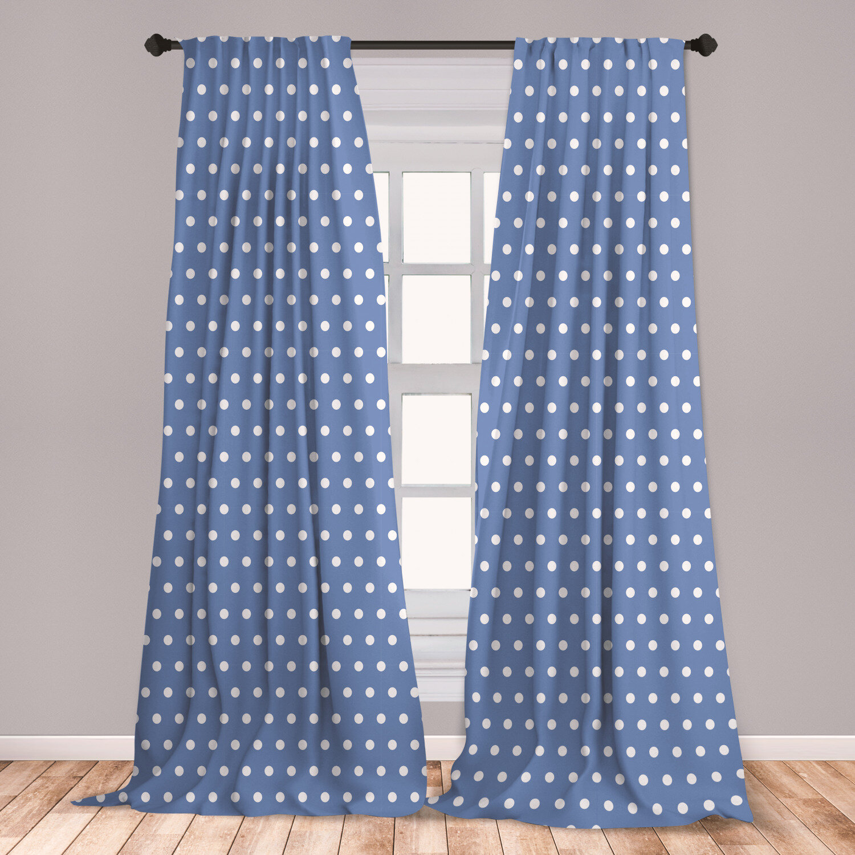 East Urban Home Polka Dot Room Darkening Rod Pocket Curtain Panels Wayfair