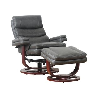 Bella Manual Swivel Recliner With Ottoman
