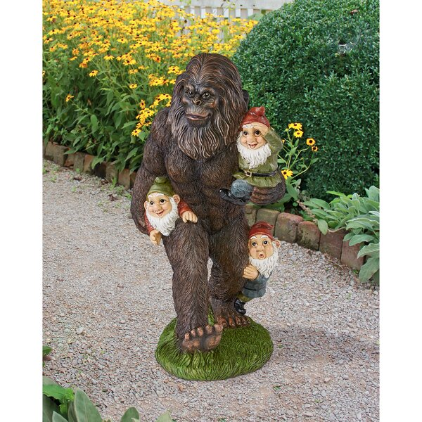 Design Toscano Schlepping The Garden Gnomes Bigfoot Statue U0026 Reviews |  Wayfair