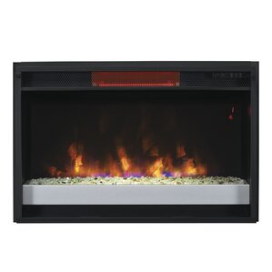 Baehr Infrared Quartz Wall Mounted Electric Fireplace Insert by Ebern Designs