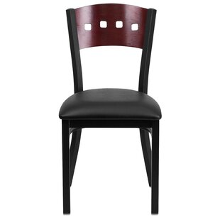 Chafin Metal Upholstered Dining Chair by Winston Porter