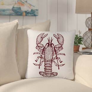 Fosters Lobster 100% Cotton Throw Pillow