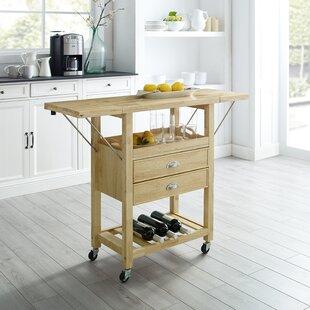Watley Drop Leaf Kitchen Cart Solid Wood Snag This Hot Sale ...