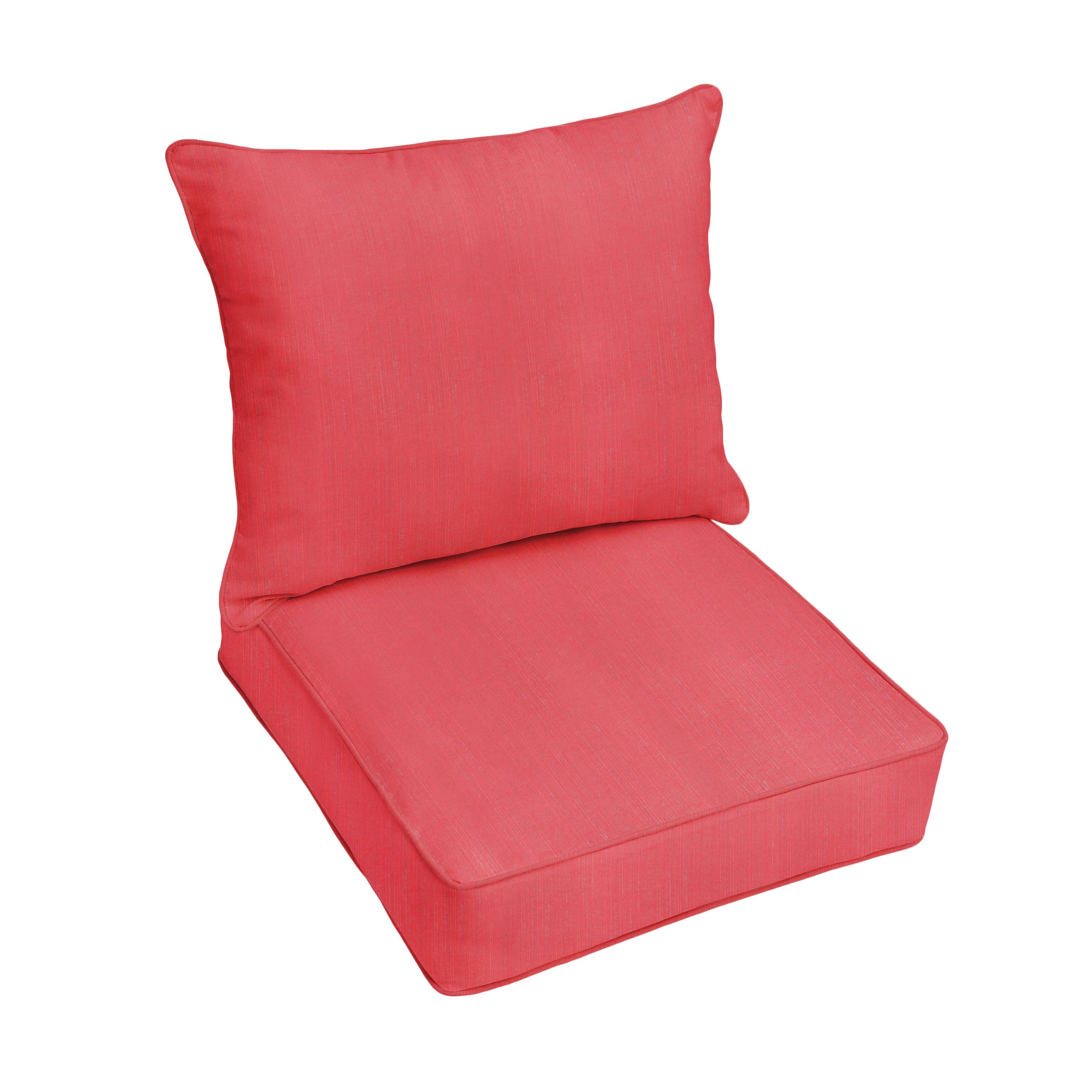 Darby Home Co Textured Indoor Outdoor Sunbrella Lounge Chair Cushion Set Wayfair