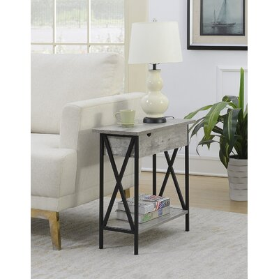 Abbottsmoor End Table Color: Faux Birch by Andover Mills
