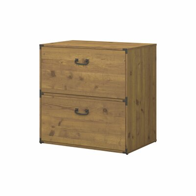 Ironworks 2-Drawer Lateral File Finish: Vintage Golden Pine by Kathy Ireland Home by Bush Furniture