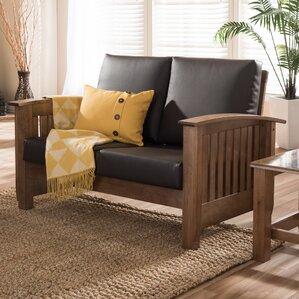 Baxton Studio Benigno 2 Seater Loveseat by Wholesale Interiors