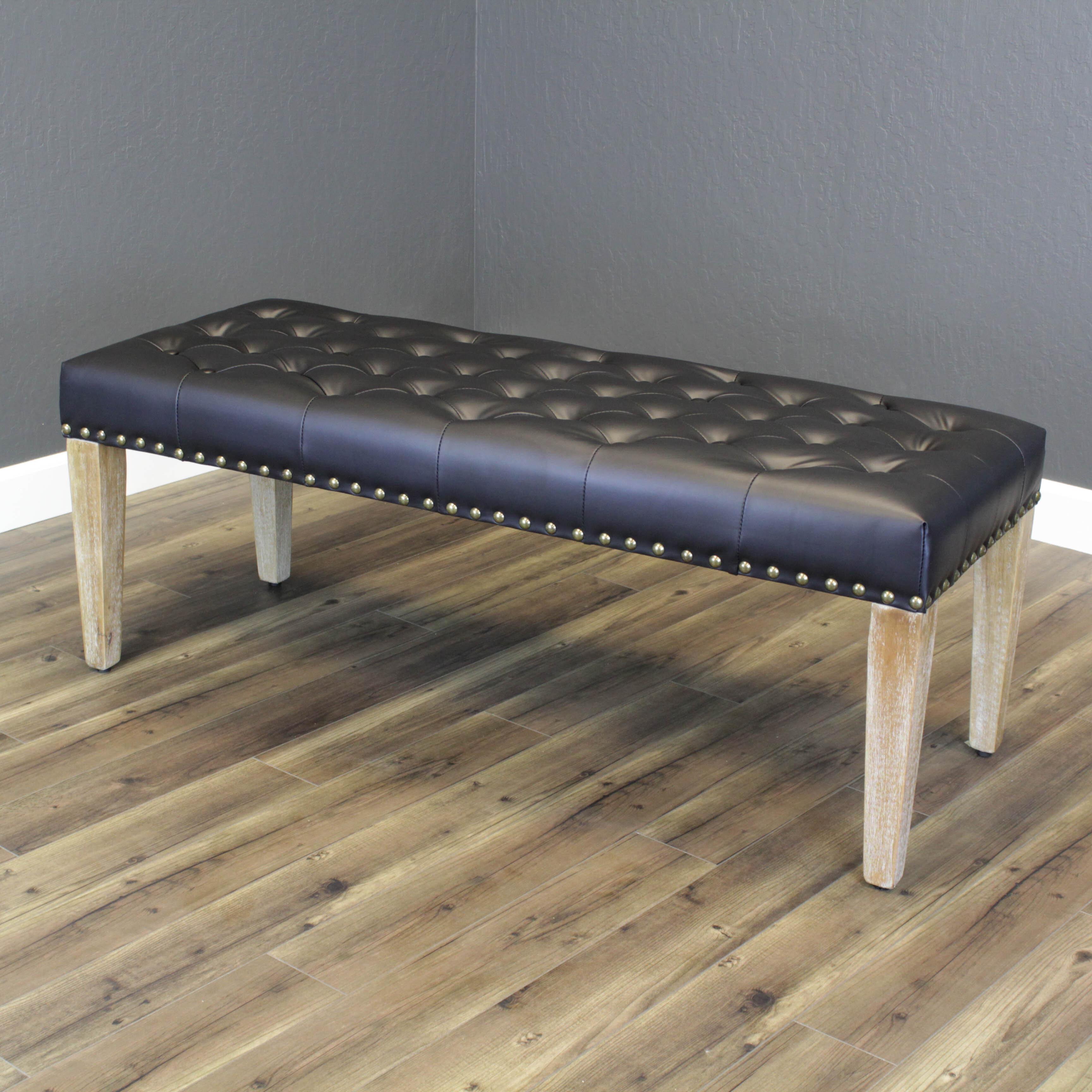 Gracie Oaks Whipton Faux Leather Bench Reviews Wayfair