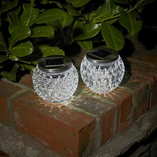 Hargraves Dimpled Glass Jar Solar 1-Light LED Decorative And Accent Light (Set Of 2) By Sol 72 Outdoor