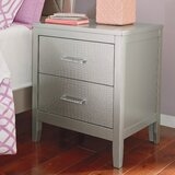 Upham 2 - Drawer Nightstand in Silver by Rosdorf Park