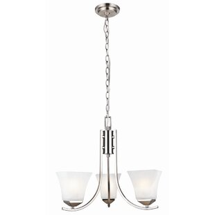 Ebern Designs Bendigo 3-Light Shaded Chandelier