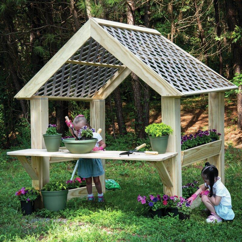 Wood Designs Outdoor Garden Center 6 4 X 6 25 Playhouse Wayfair