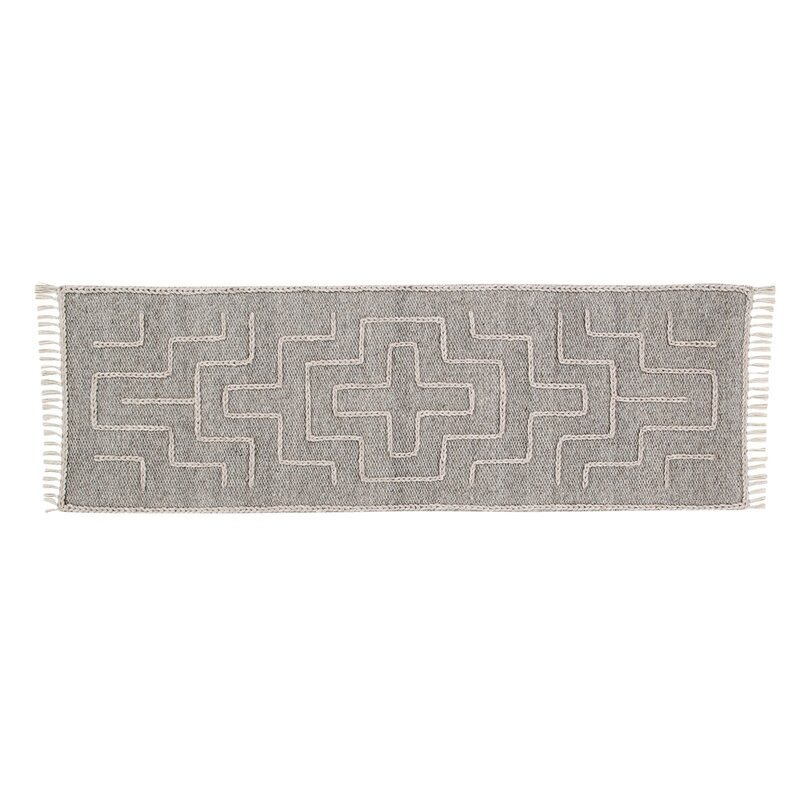 Union Rustic Romo Handwoven Wool Gray Area Rug, Size: Runner 2 x 6