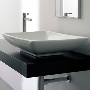 Scarabeo by Nameeks Kylis Ceramic Rectangular Vessel Bathroom Sink