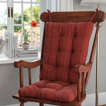 Andover Mills 2 Piece Indoor Rocking Chair Cushion Reviews
