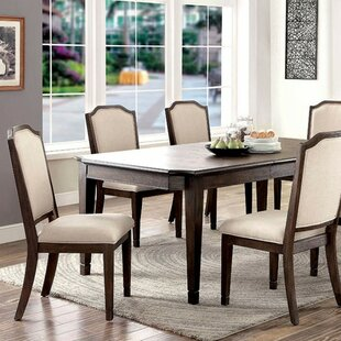 Roesch Transitional 6 Piece Solid Wood Dining Table by Charlton Home