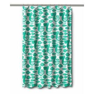 Poplar Pelican Fish Shower Curtain