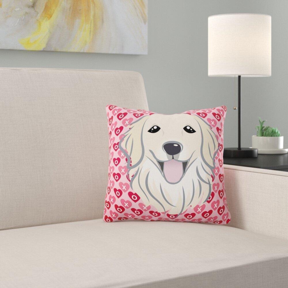 East Urban Home Schnauzer Hearts Indoor Outdoor Throw Pillow Wayfair