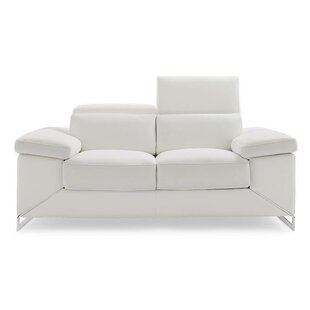 Asa Leather Loveseat by Wade Logan Today Only Sale