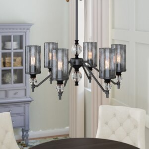 Benton Harbor 6-Light Shaded Chandelier