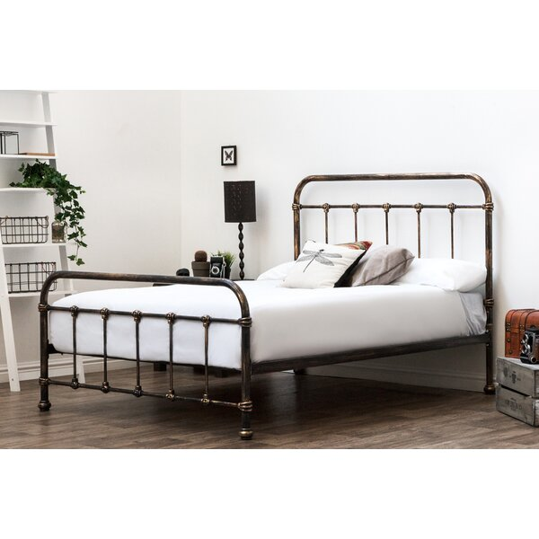 Antiqued Shabby Chic Black Metal Bed Frame Hospital Single Double King Size Handsome Appearance Beds & Mattresses