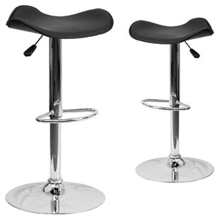 Tristan Adjustable Height Swivel Bar Stool (Set of 2)