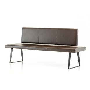 Camron Leather Bench by Orren Ellis