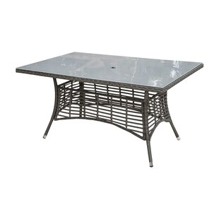 Panama Jack Outdoor Graphite Wicker Dining Table
