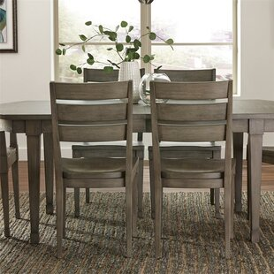 Malt Gray Wash 7 Piece Extendable Solid Wood Dining Set Three Posts