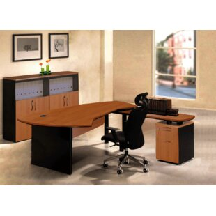 Executive Management 4 Piece L-Shaped Desk Office Suite by OfisELITE Cheap