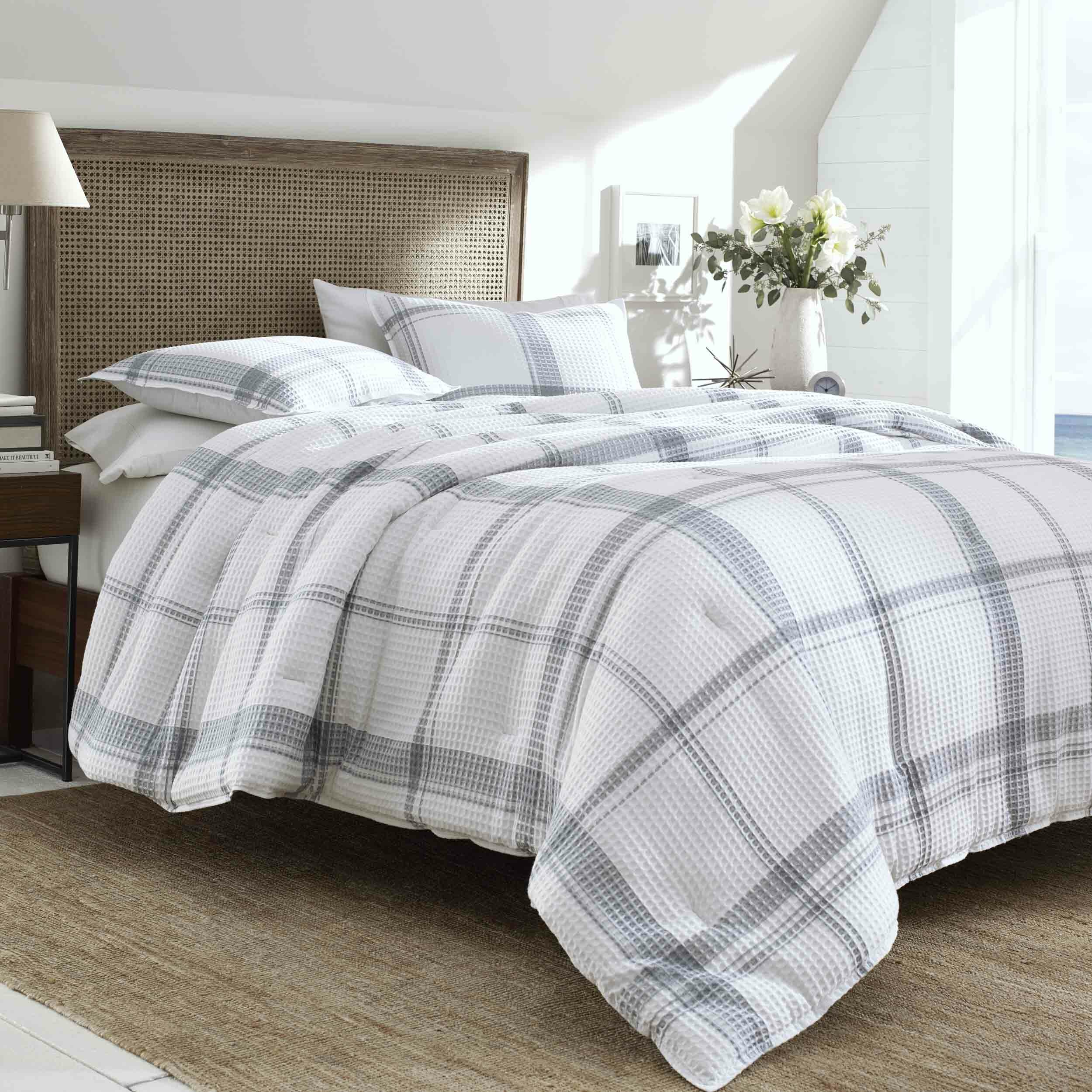 Blue Woolrich Ryland Comforter Reversible Oversized Jacquard Check Plaid Cabin Lodge Rustic Printed Modern Ultra Soft Down Alternative Hypoallergenic All Season Bedding Set Full Queen Mimbarschool Com Ng